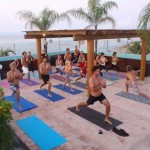 Yoga-on-roof-Punta-Mita-Cinco